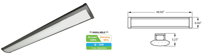 LED - 4' Linear High Bay Fixture - LED-1LH48 Series