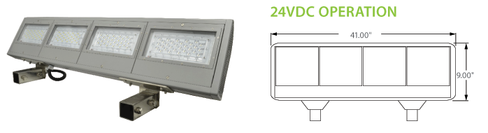 24VDC Solar Compatible LED Billboard Fixtures