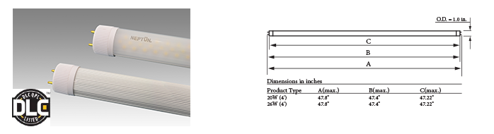 LED T8 - 4ft. Linear Tube - 26W