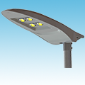 LED - COB Street Light Fixture - LED-882-L4 Series of LED Street Lights category Neptun SKU LED-882-L4 Series