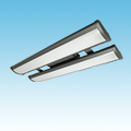 LED - 3' Linear High Bay Fixture - LED-2LH36 Series of LED High Bay and Low Bay Fixtures category Neptun SKU LED-2LH36 Series