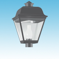 24VDC Solar Compatible Induction Post Top Acorn Lighting of 24VDC Post-Top Lighting category Neptun SKU Induction - 95xxx Series