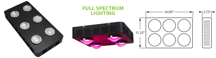 LED - COB Full Spectrum Grow Light - 6 Lamp
