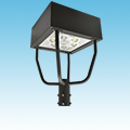 "LED - 18"" Square Post Top Parking / Area Light Fixture - 80W of DLC Listed Products category Neptun SKU LED-64080-UNV-850"