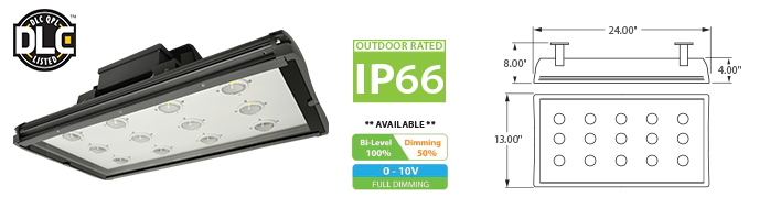 LED - IP66 Outdoor Rated - High Bay Fixtures LED-49-24 Series
