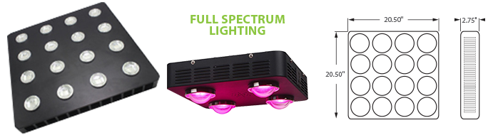 LED - COB Full Spectrum Grow Light - 16 Lamp