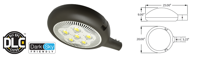 LED - Round Parking / Area Fixture - 100W
