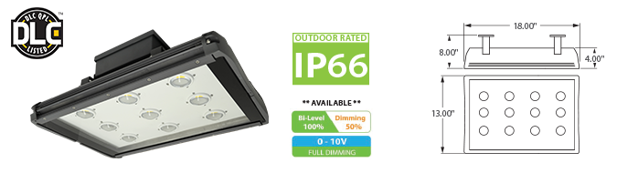 LED - IP66 Outdoor Rated - Low Bay Fixtures LED-49-18 Series