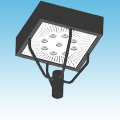 "LED - 24"" Square Post Top Parking/Area Light Fixture of LED Post Top Fixtures category Neptun SKU LED-59 Series"