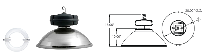"Induction 20"" High/Low-Bay Fixture"