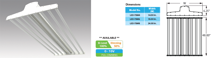 LED - T8 Linear High-Bay Fixture