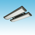 LED - 2' Linear High Bay Fixture - LED-2LH24 Series of LED High Bay and Low Bay Fixtures category Neptun SKU LED-2LH24 Series