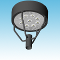 "LED - 24"" Round Post Top Parking/Area Light Fixture of LED Post Top Fixtures category Neptun SKU LED-58 Series"