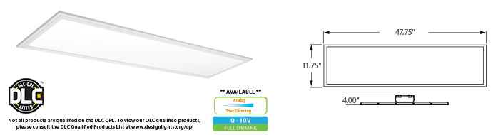 LED - 1' x 4' Edge Lit Ceiling Panel - LED-54xxx Series