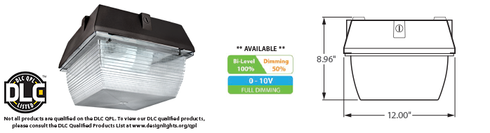 LED - 12 inch Canopy Fixture - LED-12xxx Series