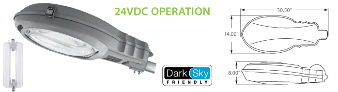 24VDC Solar Compatible Induction Street Lighting